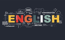 Design Concept Of Word ENGLISH...