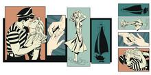 Girl Says Goodbye To Sailor.