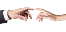 Two Hands Touching Each Other.