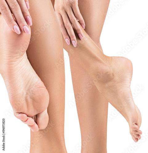 Fototapeta Perfect female feet with smooth skin. obraz na płótnie
