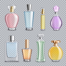 Perfume Glass Bottles Transpar...
