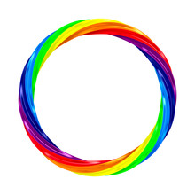Twisted Rainbow Ring On White ...
