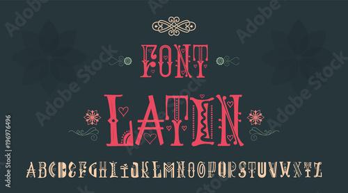 Valokuva  Vintage font - Latin