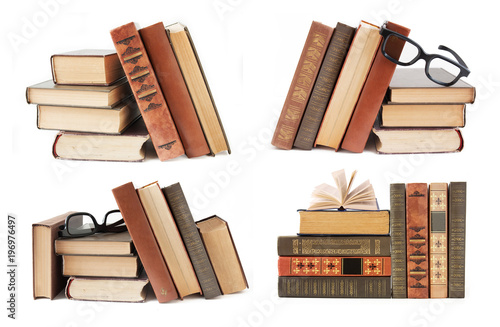 book shelf isolated on white background set