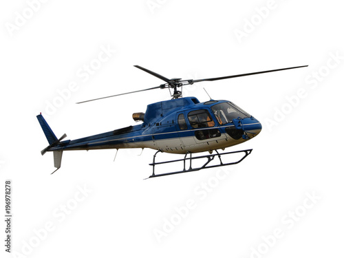 Türaufkleber Hubschrauber Helicopter isolated on white