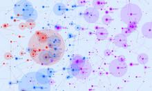 Violet Abstract 3D Big Data Vi...