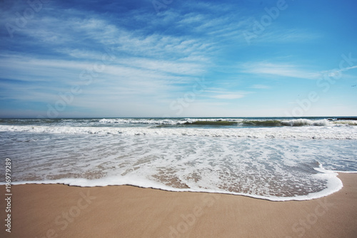 Plakat Morze i piaszczysta plaża