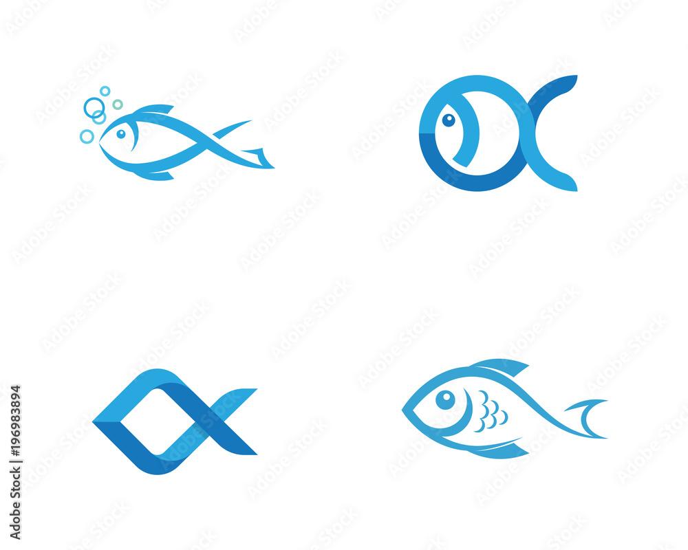 Fototapeta Fish Icon vector illustration
