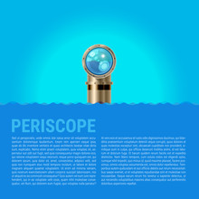 Periscope Background, Sea Waves Vector Background