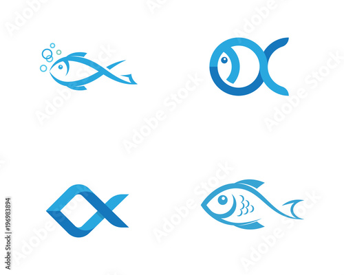 Fototapeta Fish Icon vector illustration obraz