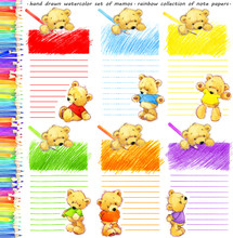 Rainbow Collection Of Paper Pa...
