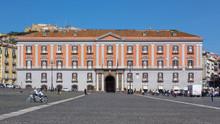 Naples (Italy) - Piazza Plebiscito, The Main Square In The Historic Centre Of Naples. Prefecture Palace