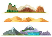 Nature Mountain Landscape Set ...