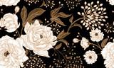 Kwiatowy wzór bez szwu. - 196990626