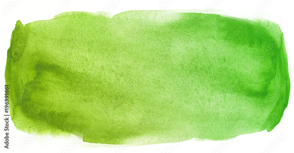 Fototapety, obrazy: Watercolor texture stain green with water color blots and wet paint