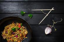 Udon Stir Fry Noodles With Mea...