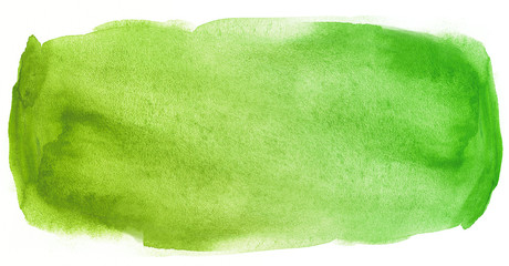 Watercolor texture stain green with water color blots and wet paint