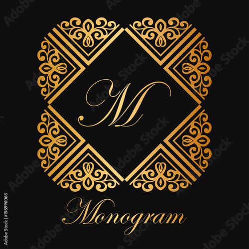 Fototapety, obrazy: Vintage ornamental monogram