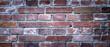 Rote Ziegelwand, Hintergrundgrafik, Konzept, Breitbild