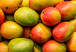 canvas print picture - lot of red fresh mango fruits