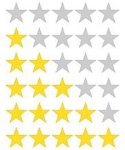 5 Star Rating Icon Vector Illu...