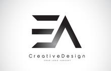 EA E A Letter Logo Design. Creative Icon Modern Letters Vector Logo.