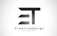 ET E T Letter Logo Design. Creative Icon Modern Letters Vector Logo.