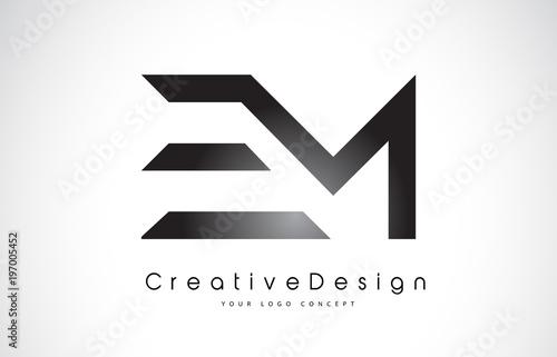 Photo  EM E M Letter Logo Design