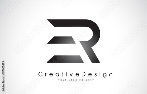 er e r letter logo design creative icon modern letters vector logo