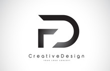 FD F D Letter Logo Design. Cre...