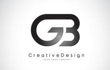 GB G B Letter Logo Design. Creative Icon Modern Letters Vector Logo.