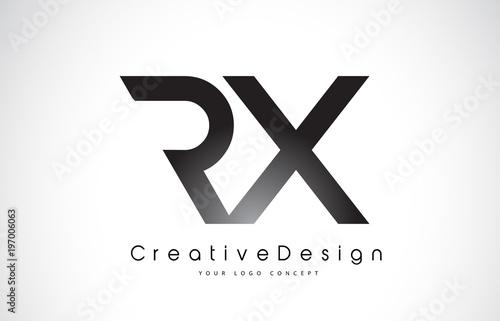 RX R X Letter Logo Design Canvas Print