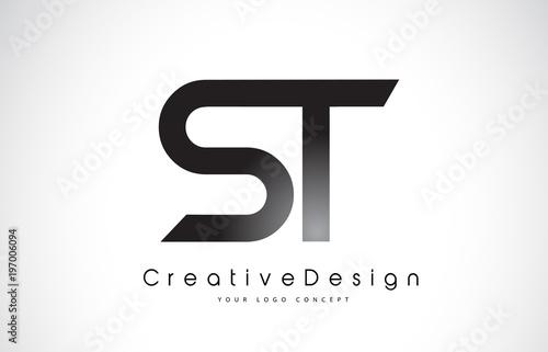 St S T Letter Logo Design Creative Icon Modern Letters