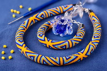 Beaded Necklace Of Colored Bea...