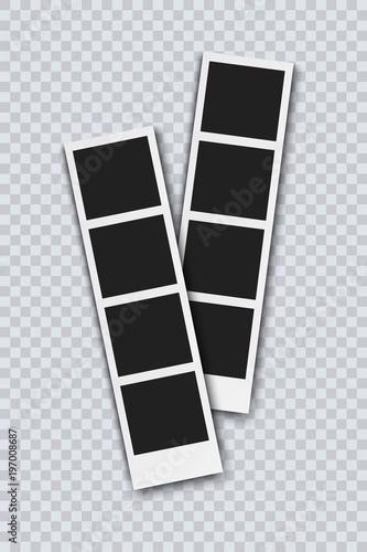 Obraz Photo frame vector realistic illustration - fototapety do salonu