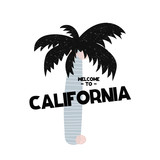 Card with lettering Welcome to California in Scandinavian style. Vector illustration - 197017629