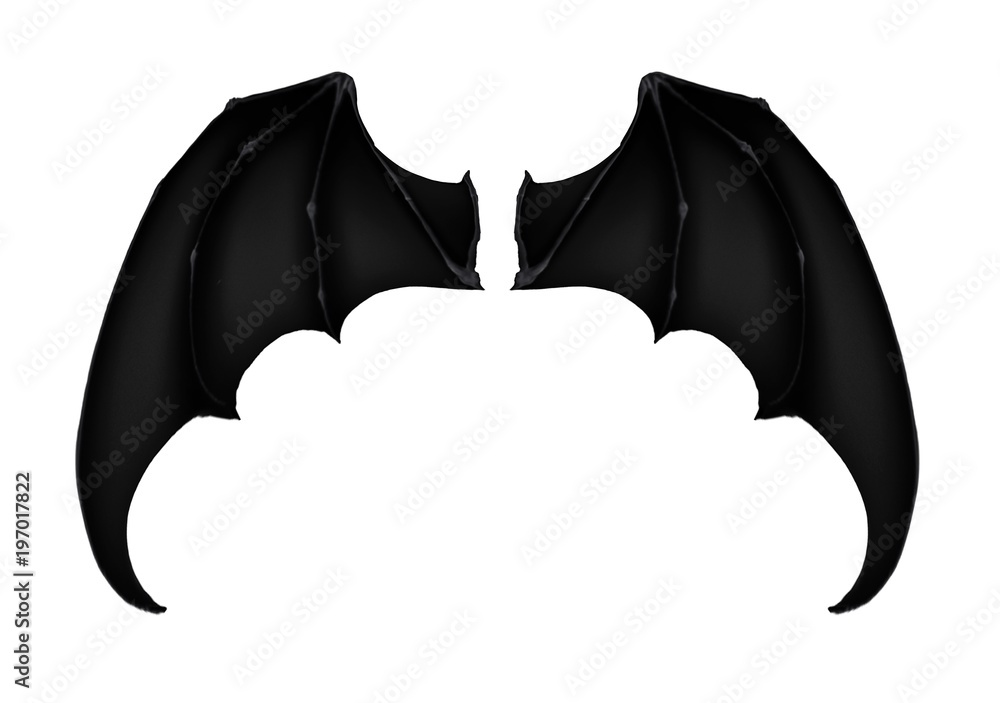 black dark demon wings 7 vampire bat