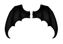 Black Dark Demon Wings 7 Vampi...