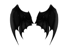 Black Dark Demon Wings 6 Vampi...