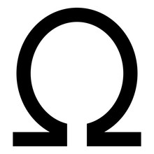 Symbol Omega Icon Black Color ...