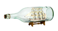 Model Sailing Ship In A Glass ...