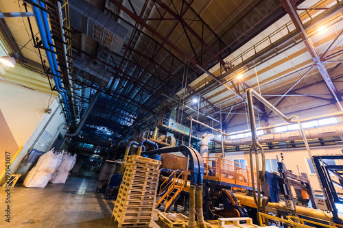 Staande foto Industrial geb. Manufacturing factory, modern high-tech production