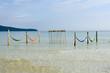 Hammocks on the beach of Koh Rong Sanloem island, Cambodia