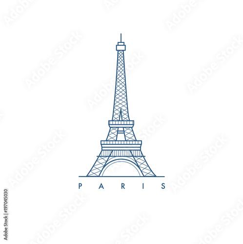 Paris city. illustration. Fototapete