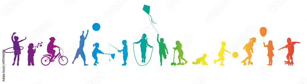 Fototapeta Frise-Jeux d'enfants-arc-en-ciel