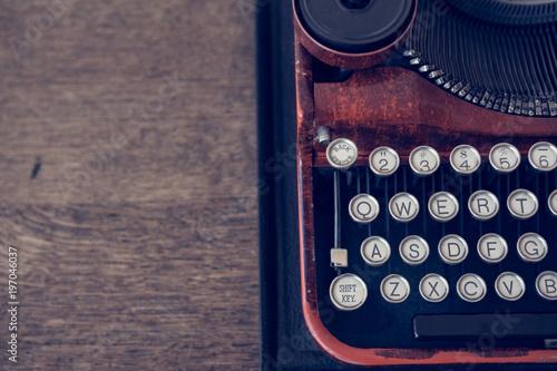 Foto op Plexiglas Retro Vintage Typewriter Top View