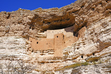 Montezuma Castle National Monument Cliff Dwellings In Camp Verde, Arizona