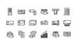 Leinwanddruck Bild - Banking and finance icons set 1