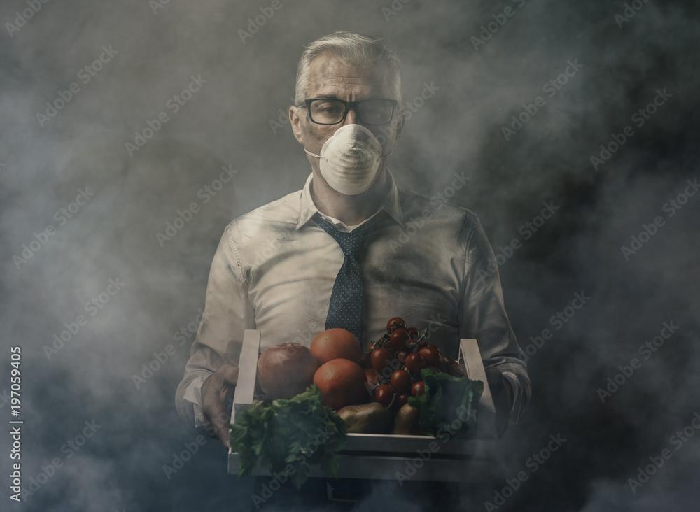Fototapeta Food pollution and contamination