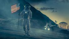 Strong Astronaut On Alien Plan...
